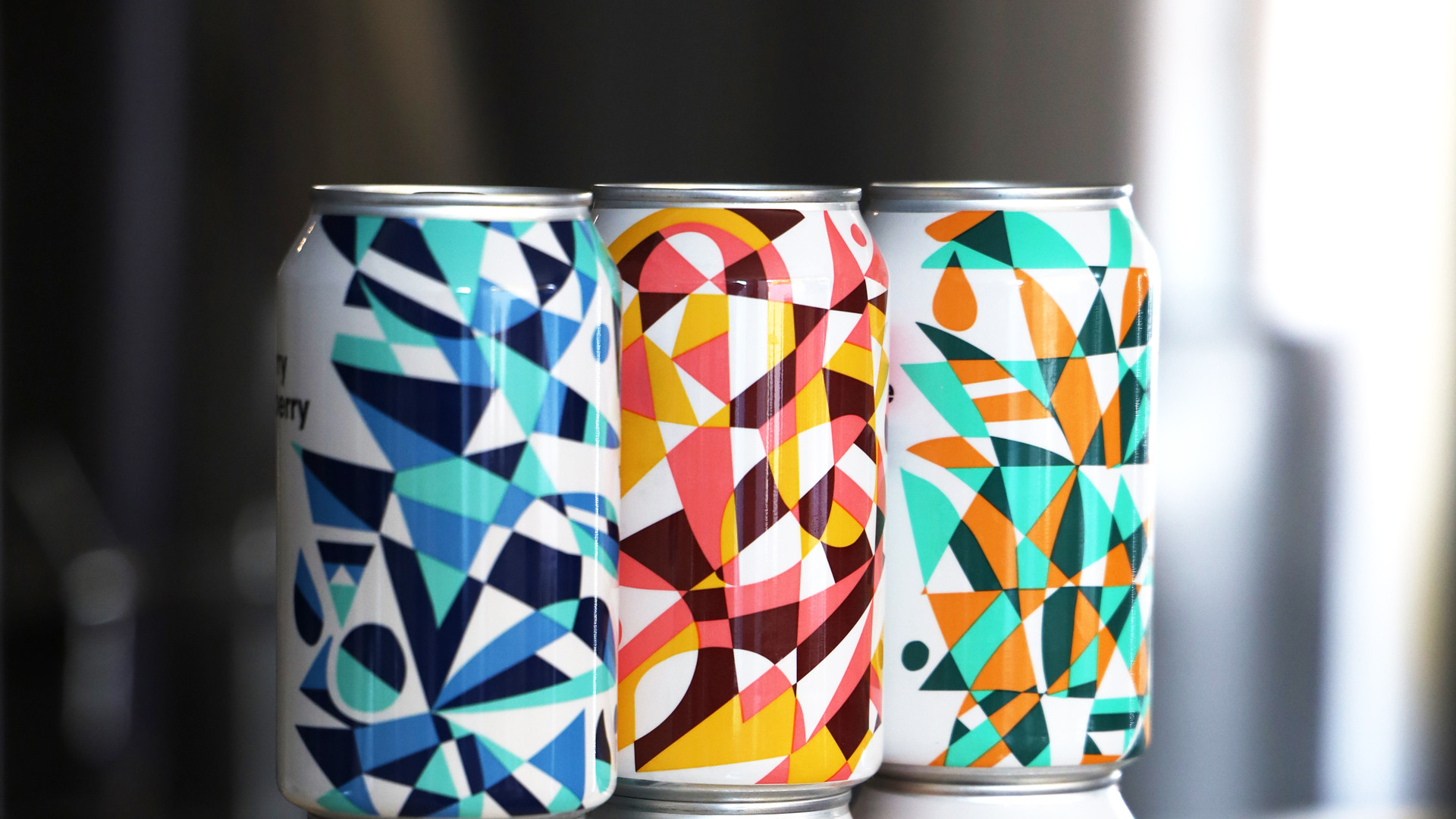 Collective Arts new Toronto brewery and distillery | Colourful cans from Collective Arts