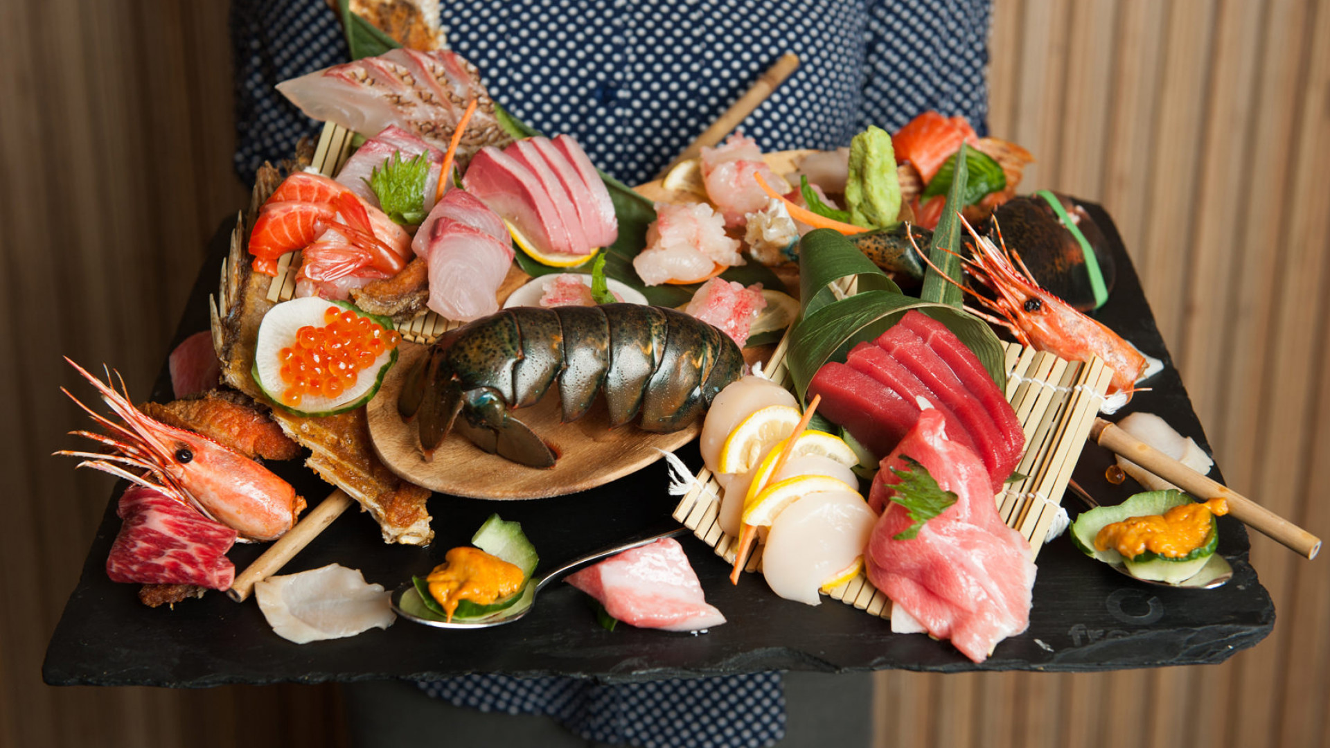 The best sushi in Toronto | A seafood and sashimi platter at JaBistro