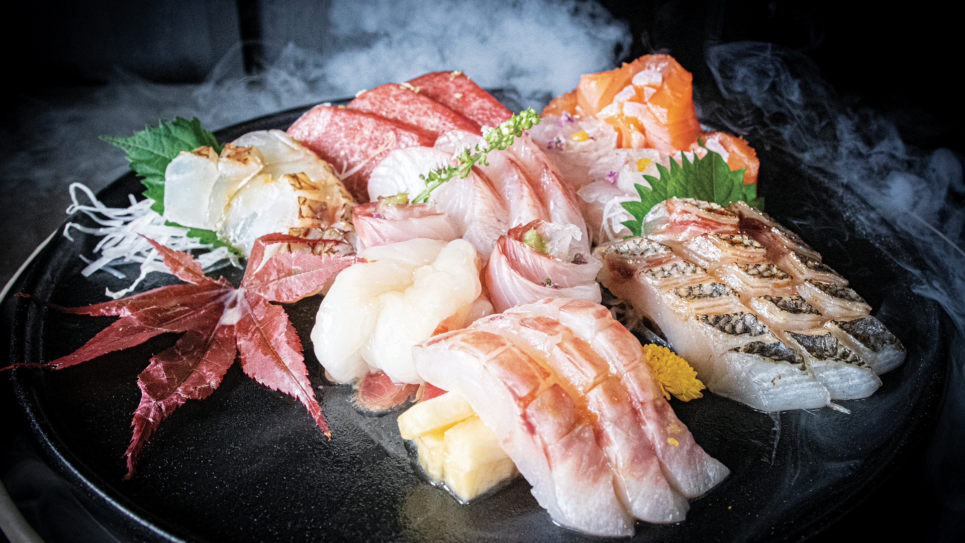 The best sushi in Toronto | A platter of assorted sashimi at Kibo Secret Garden in Yorkville