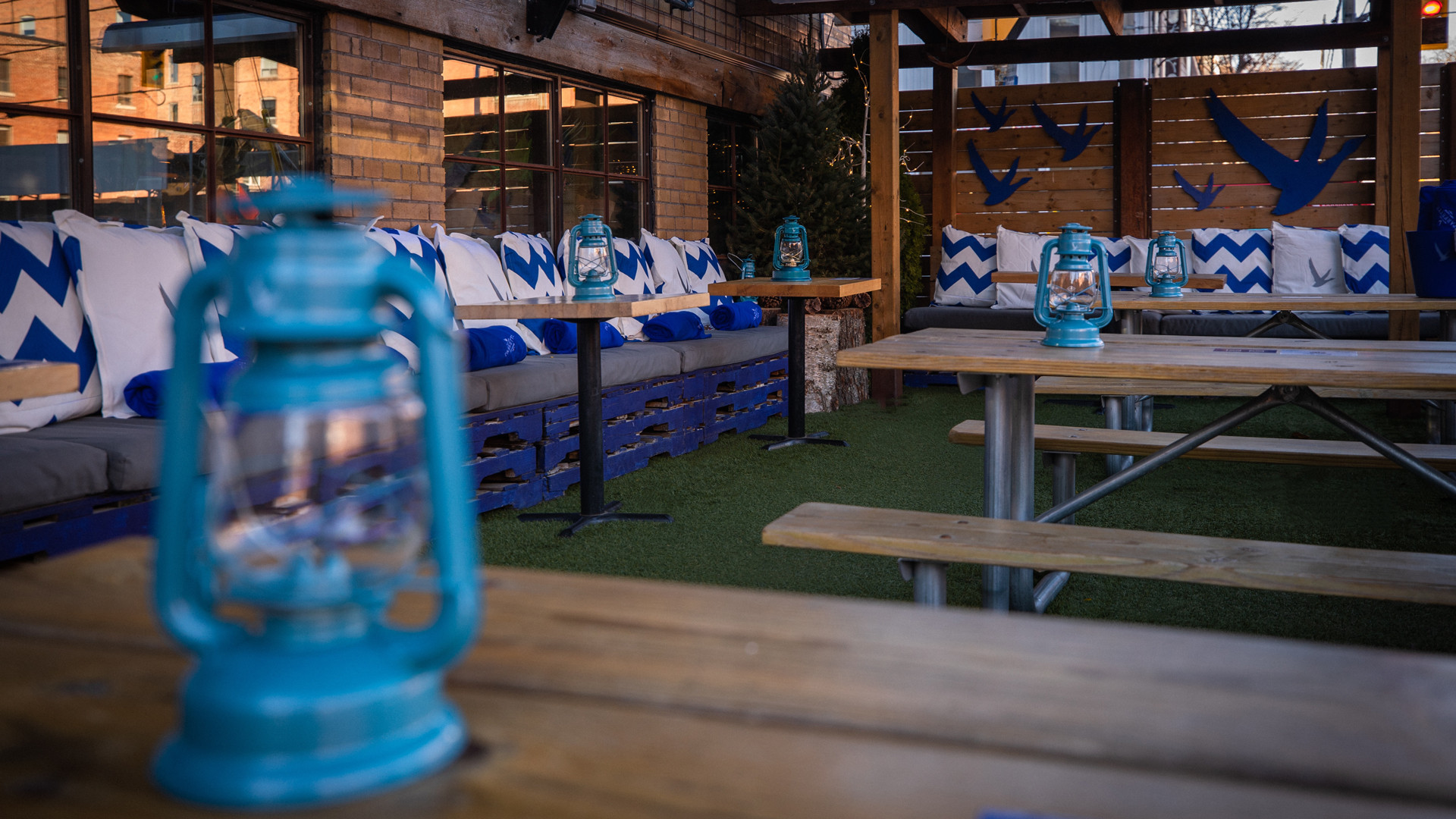 The best new restaurants in Toronto | Inside the covered, heated, winterized patio at Parkette