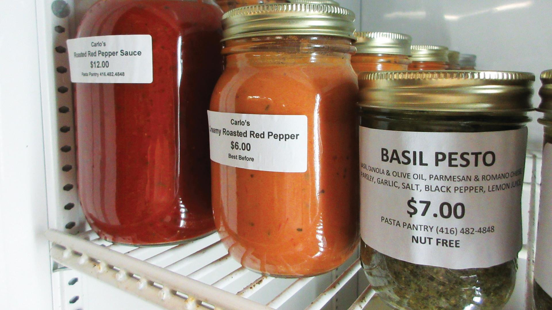 Local businesses in Toronto | Homemade sauces at Pasta Pantry