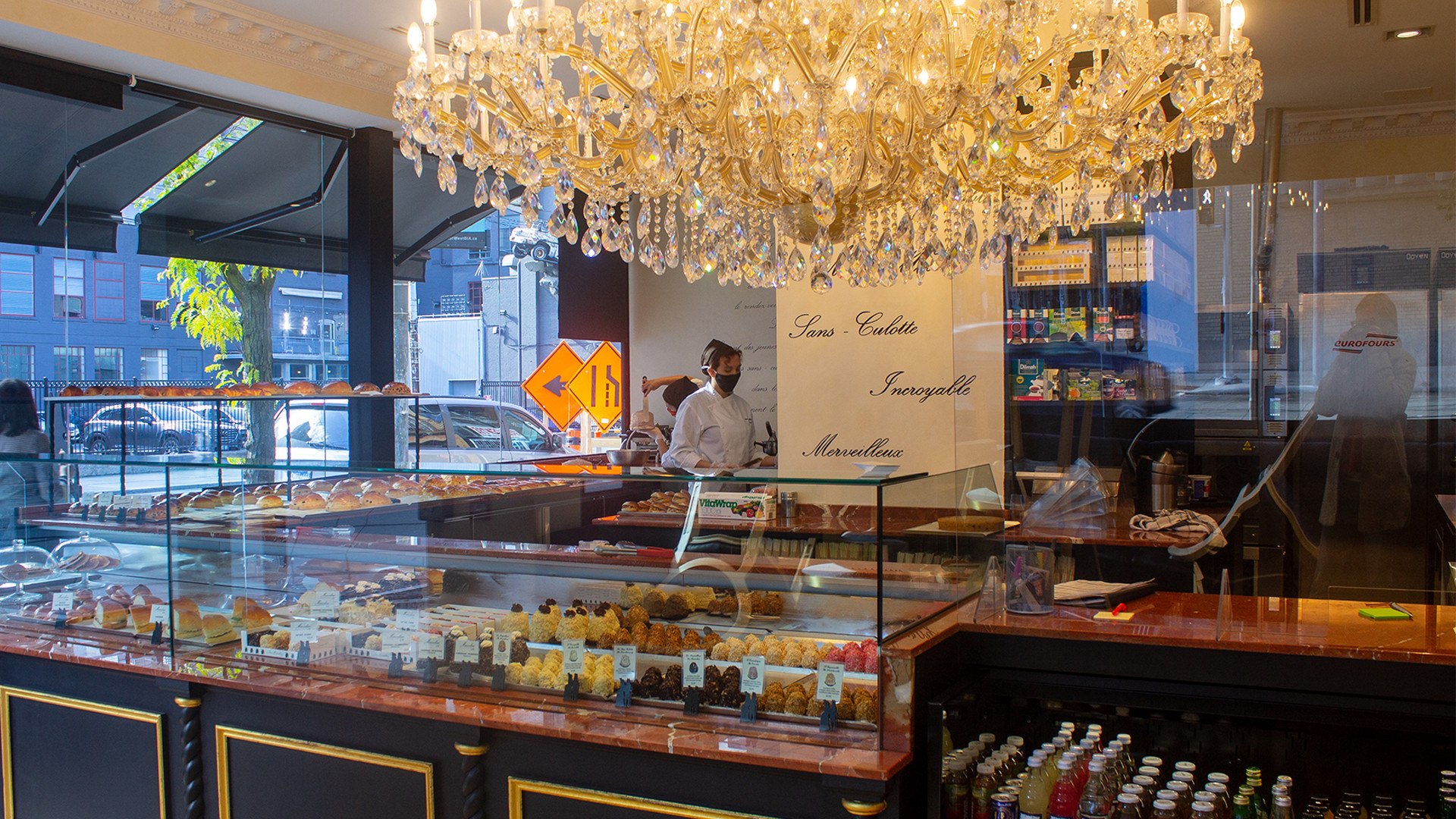 The pastry case at Marvelous by Fred