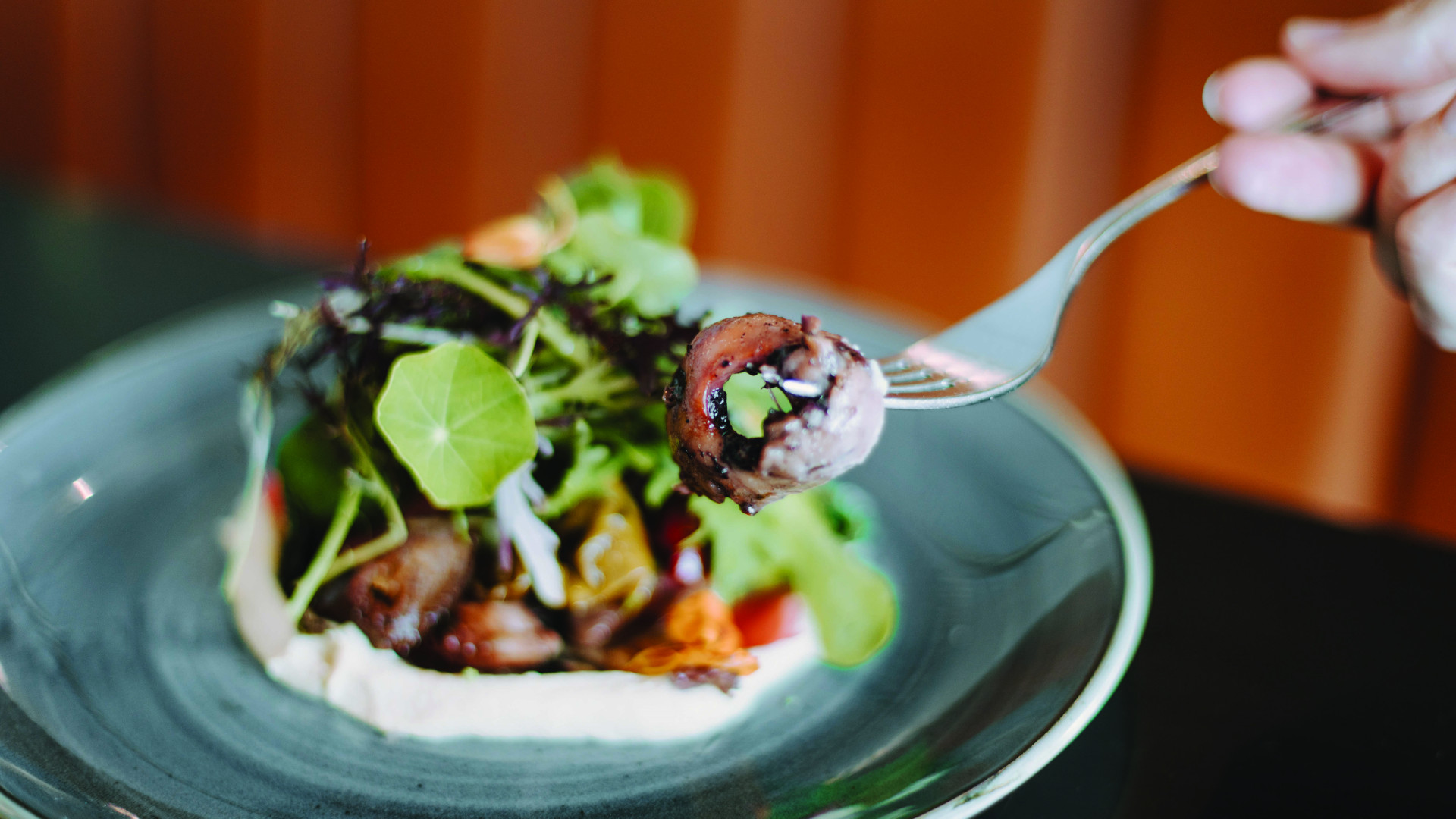 Spencer's at the Waterfront | Oven-roasted octopus