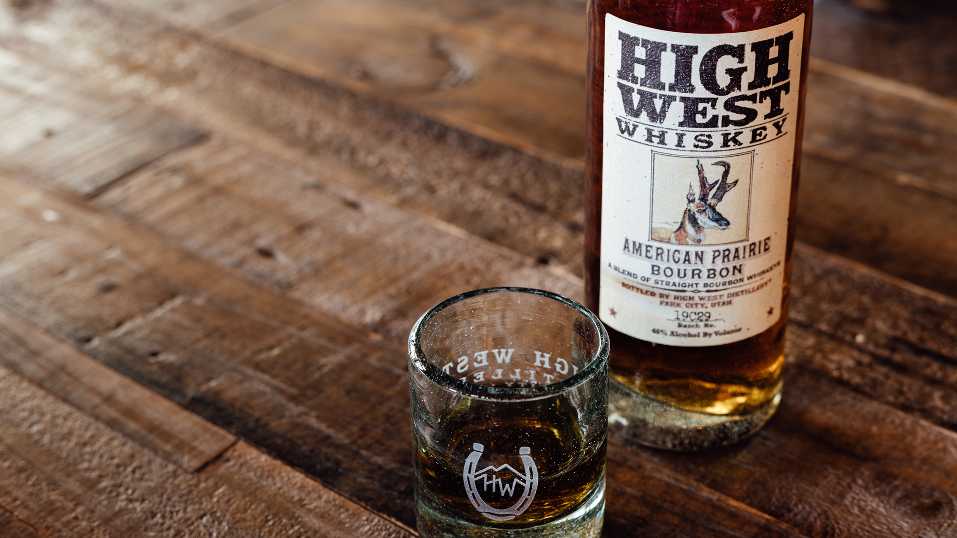High West American craft whisky is now available at LCBO | A bottle of High West American Prairie Bourbon and a glass