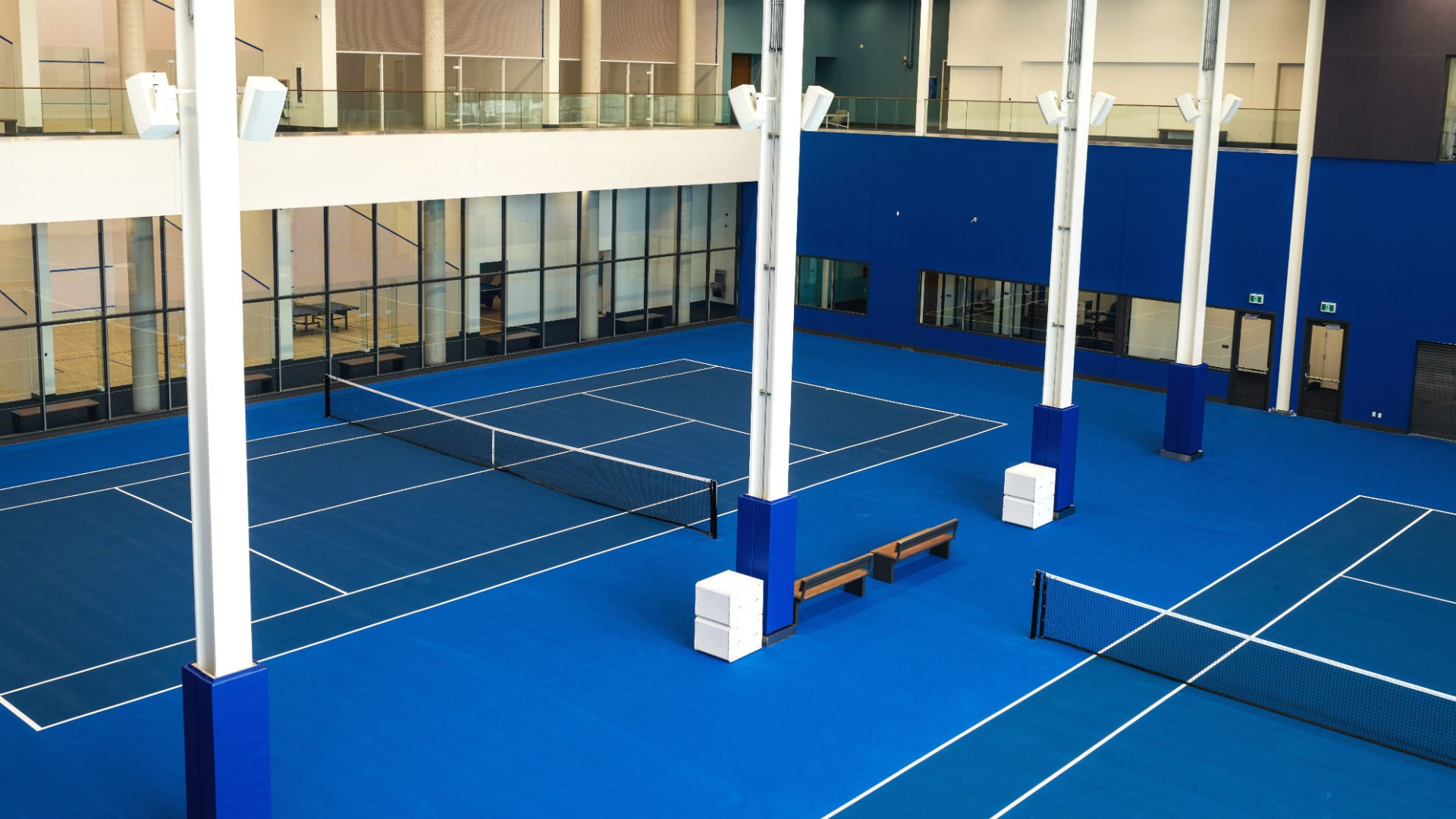 The best Toronto hotels for a staycation | Indoor tennis courts at Hotel X