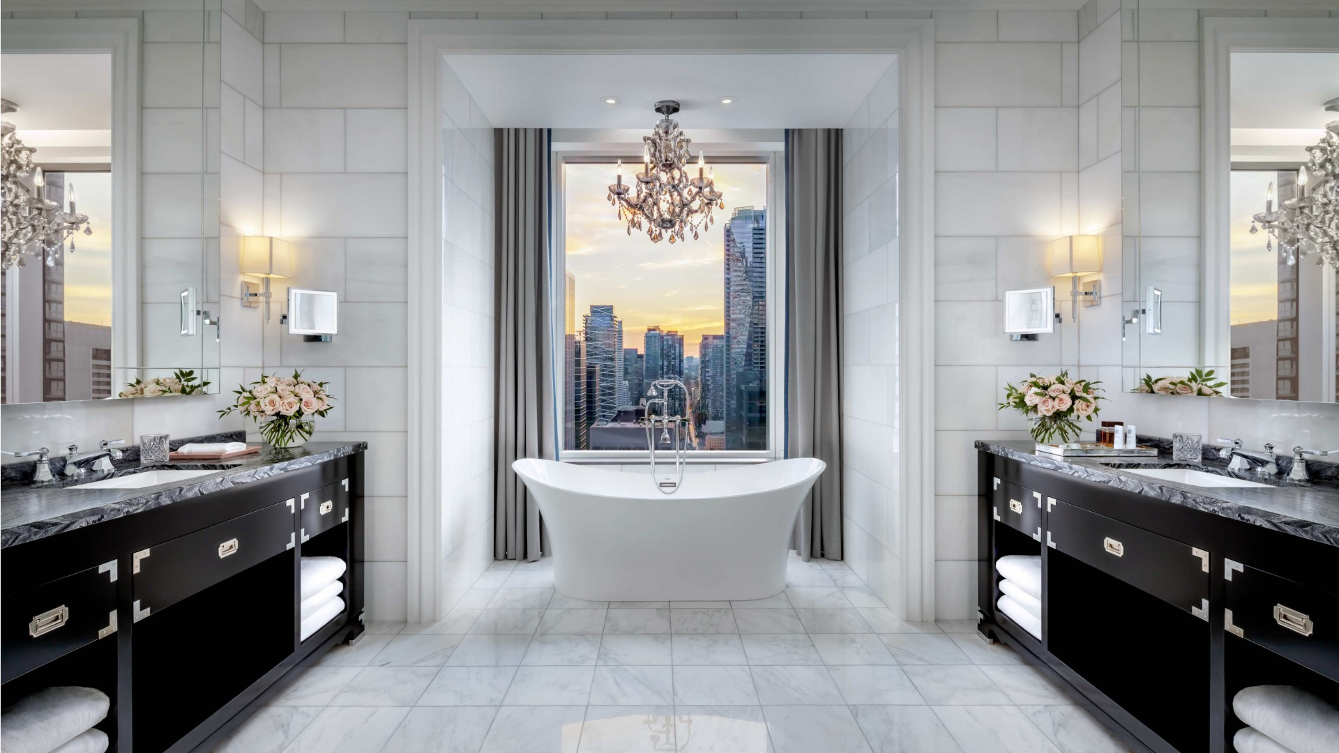 The best Toronto hotels for a staycation | Ensuite bathroom at the St. Regis Toronto