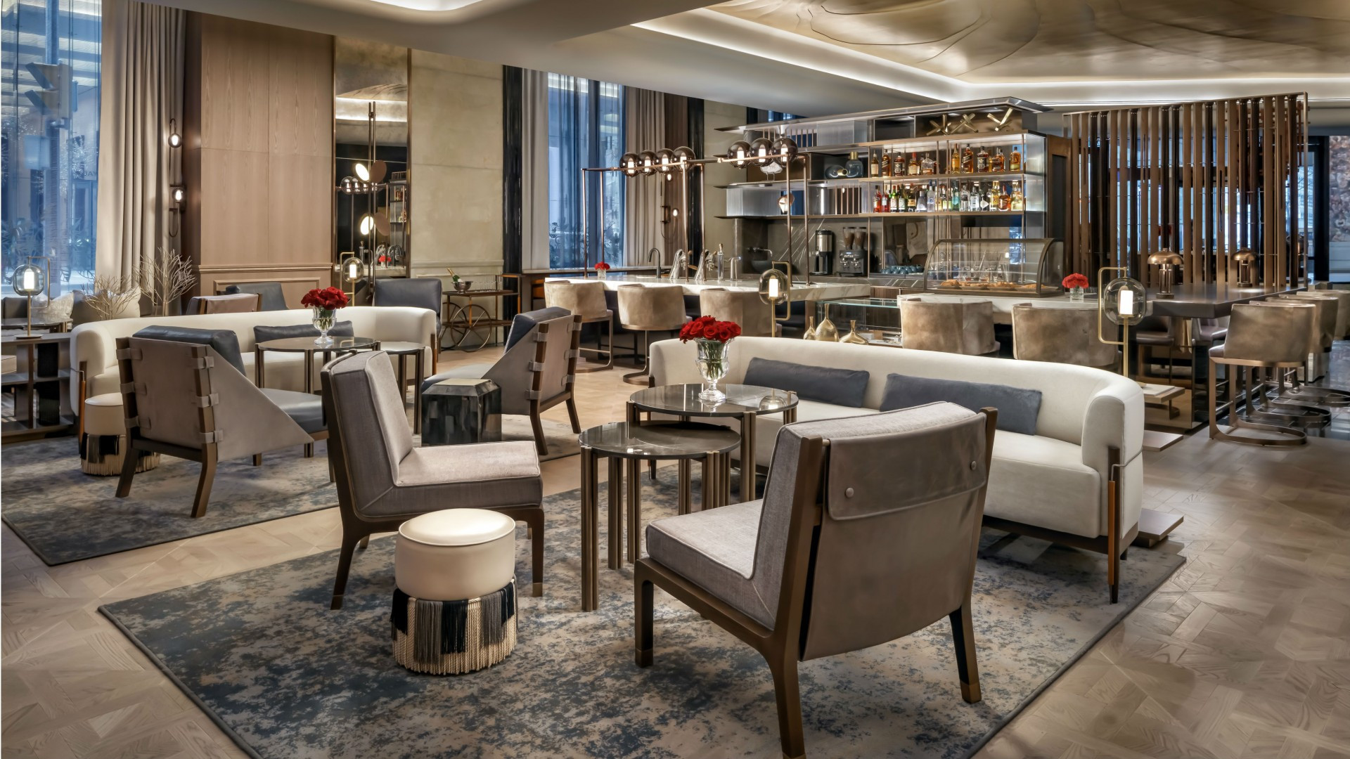 The best Toronto hotels for a staycation | Lobby bar at the St. Regis Toronto