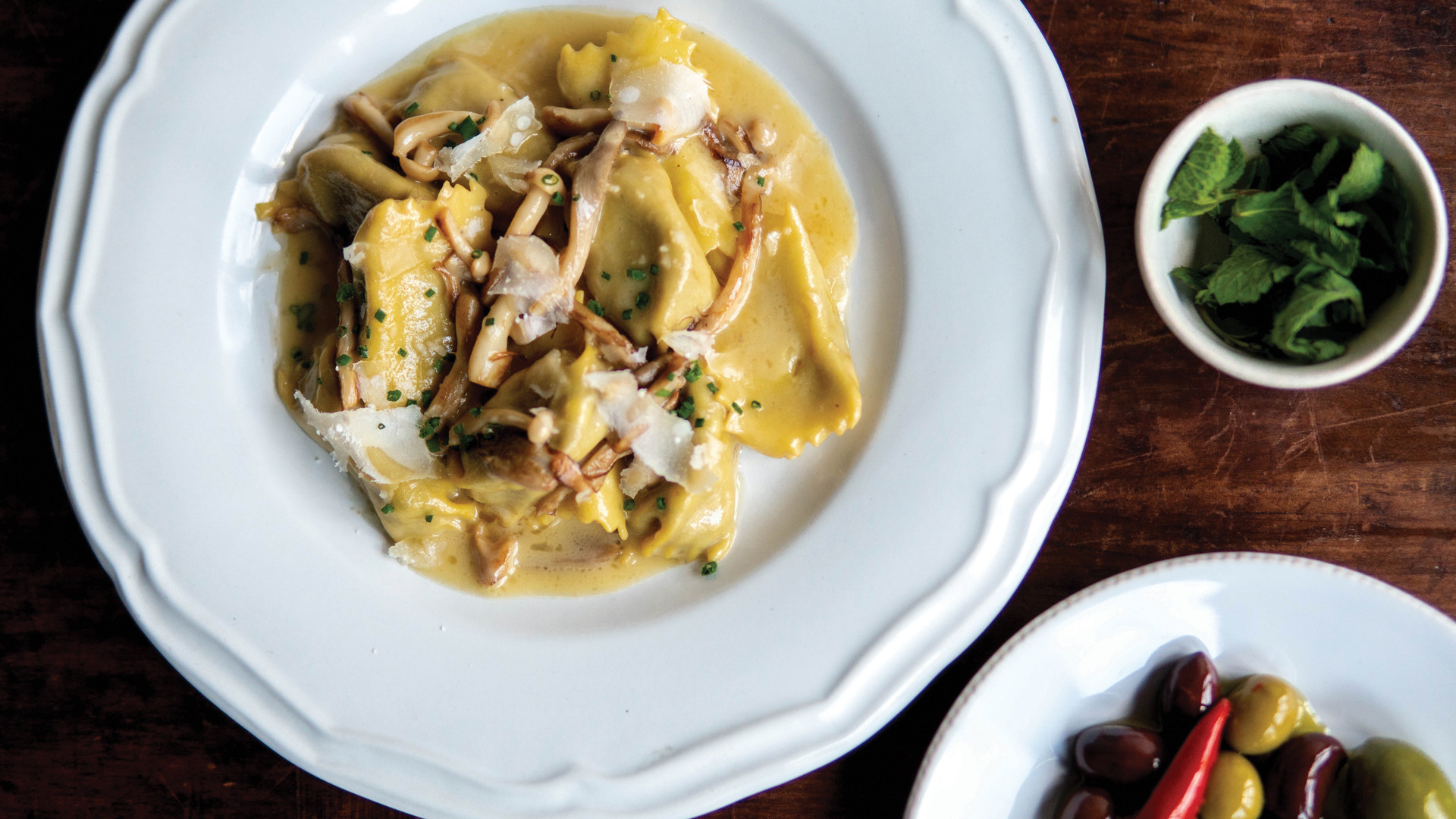 The best Italian restaurants in Toronto for pasta | Mushroom agnolotti at Ufficio on Dundas West