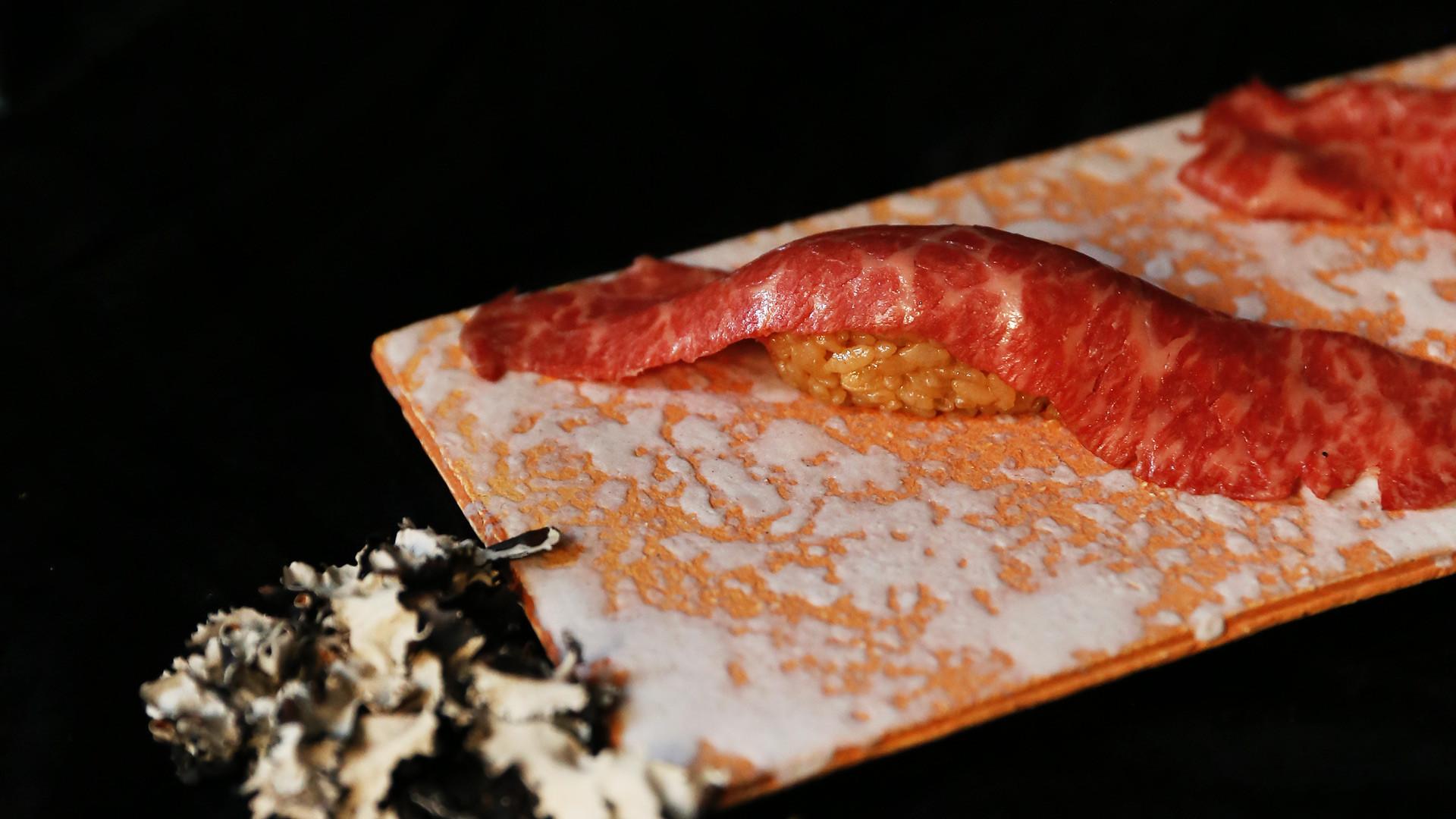 Sushi types and how to eat sushi | Wagyu beef nigiri at Minami Toronto on King West