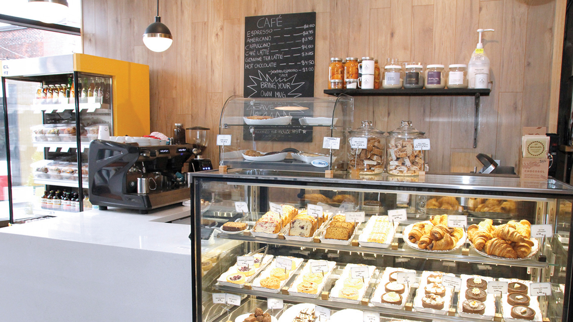 Unboxed Market, Zero waste grocery store and refillery | Coffee and pastries are available in the café corner of the store