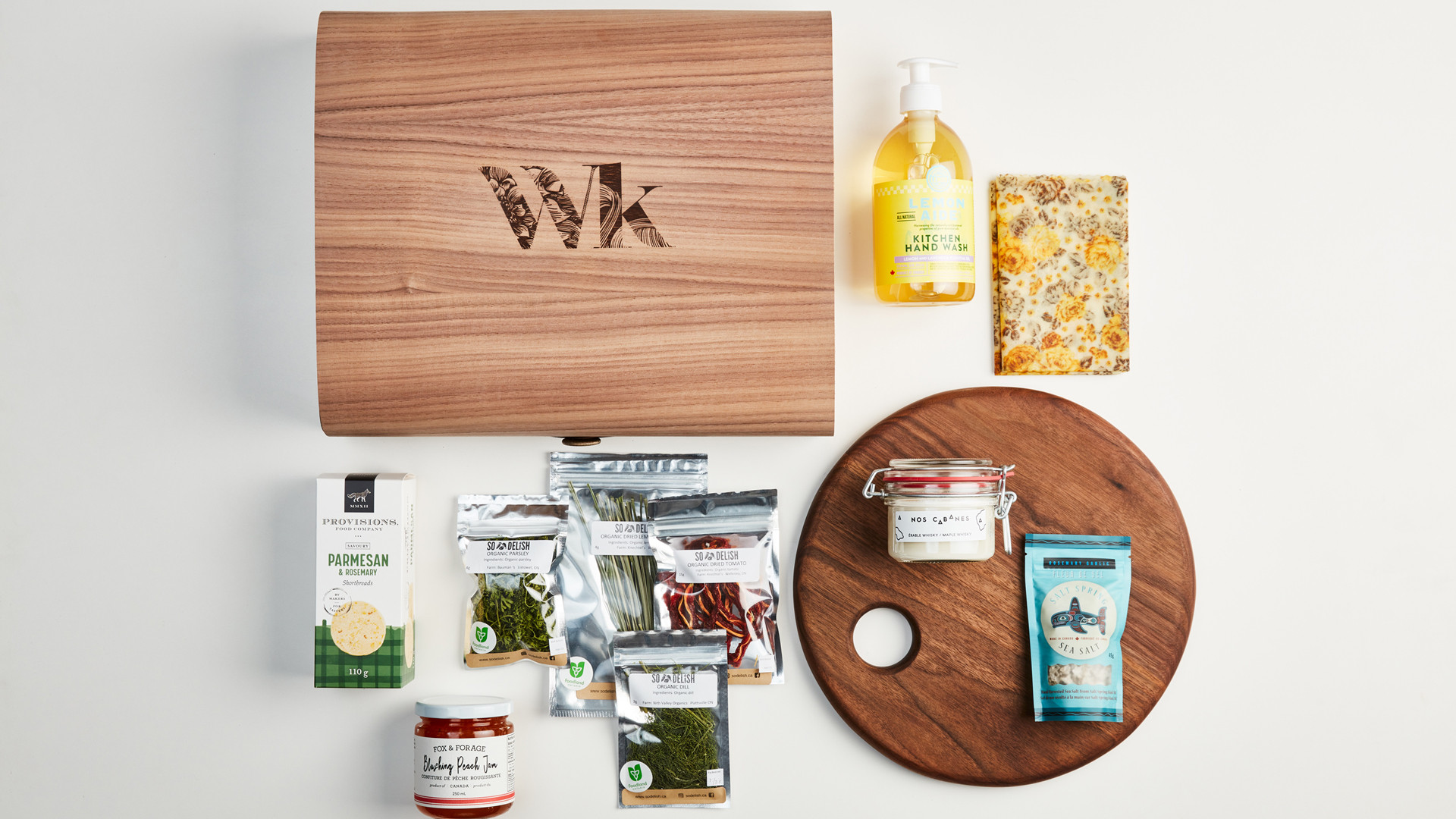 Wonderkind unique local gift sets made in Canada | Kiss the cook gift box