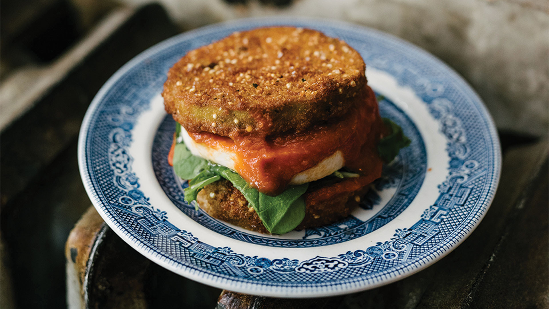 Iconic Dishes: 416 Snack Bar | Eggplant Doubledown
