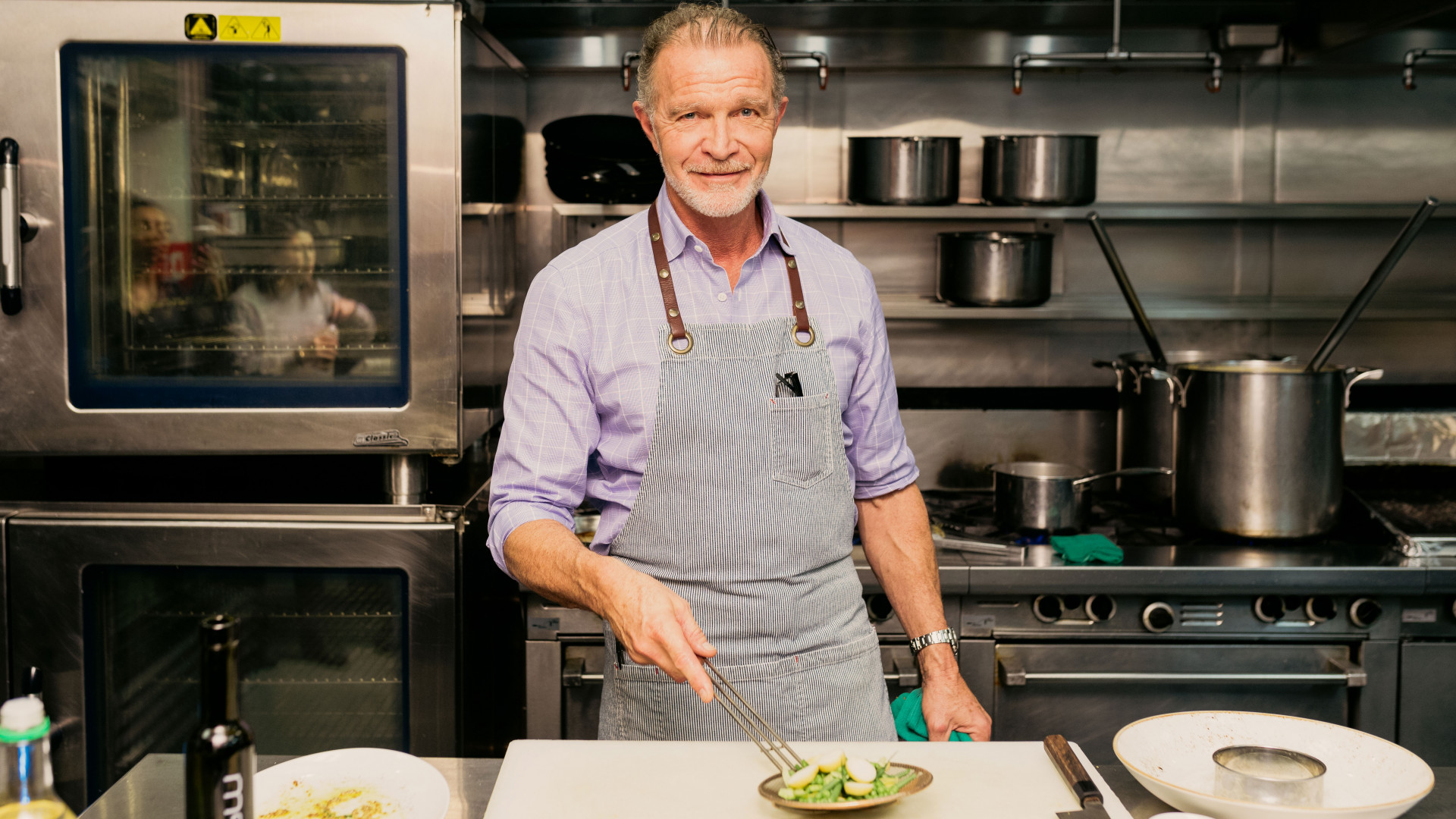 Mark McEwan in the kitchen