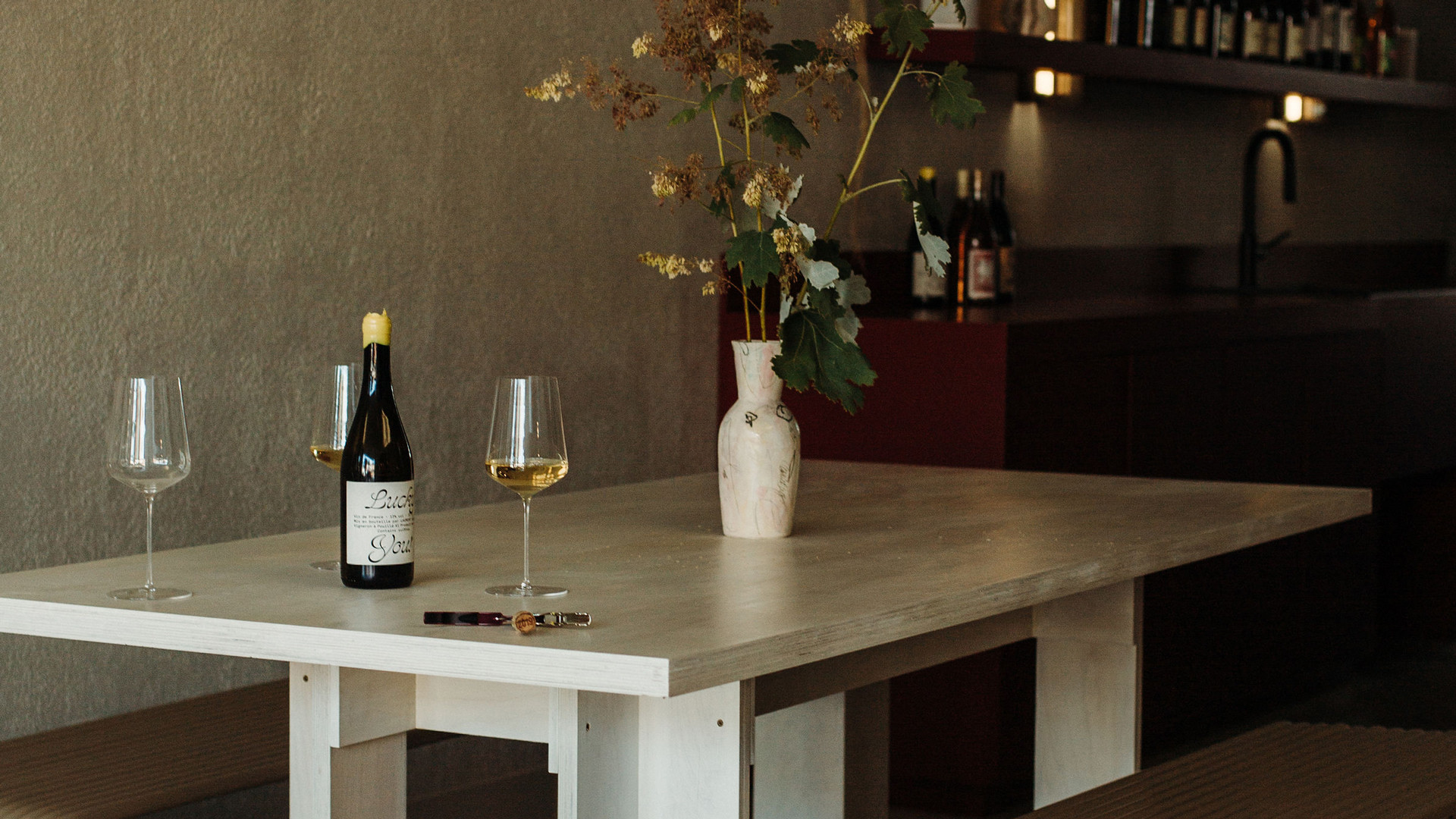 Trinity Bellwoods neighbourhood guide   Wine and two glasses at Grape Glass