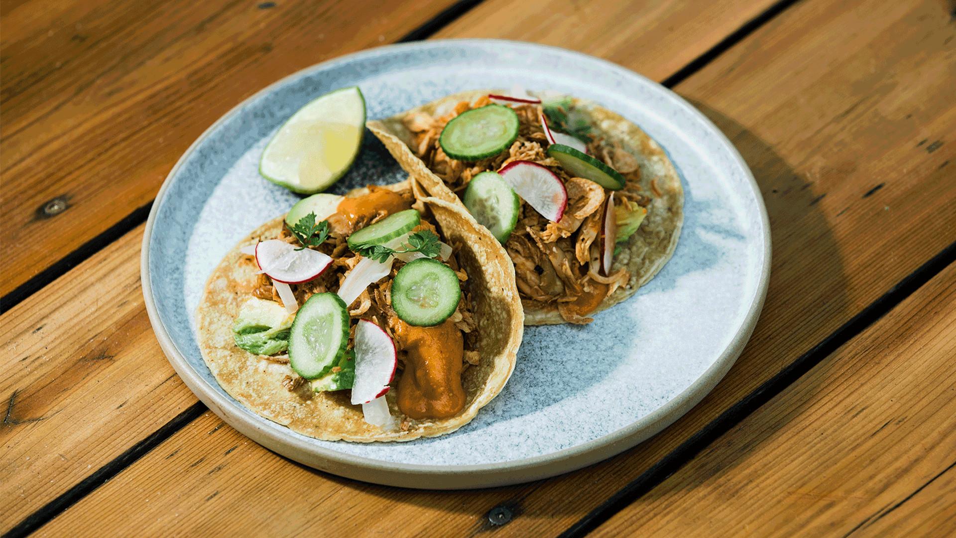 Toronto's best tacos | Tacos on the patio at El Rey Mezcal Bar in Kensington Market