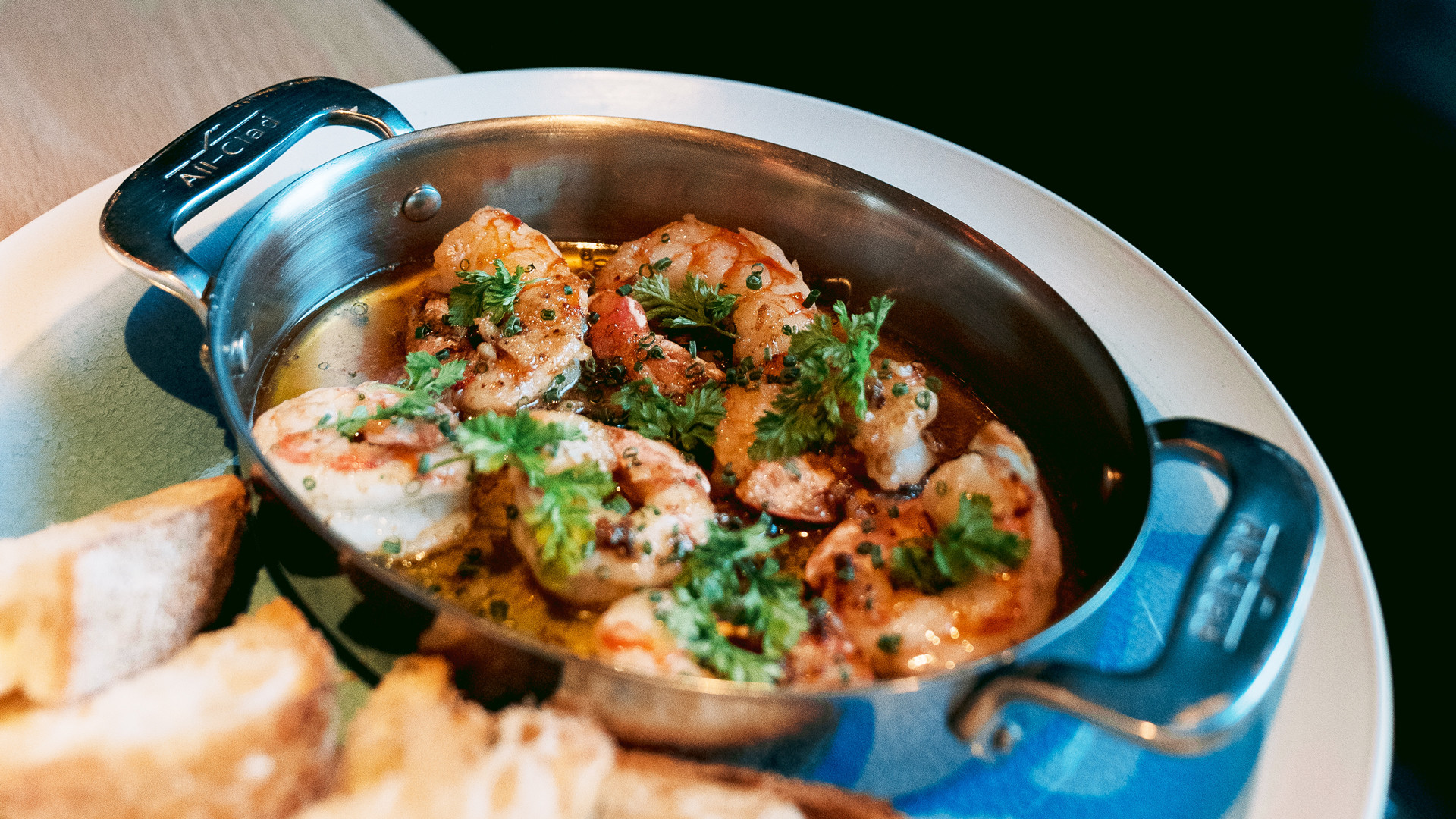 Bar Mignonette, Dundas West restaurant review | Garlic shrimp at Bar Mignonette