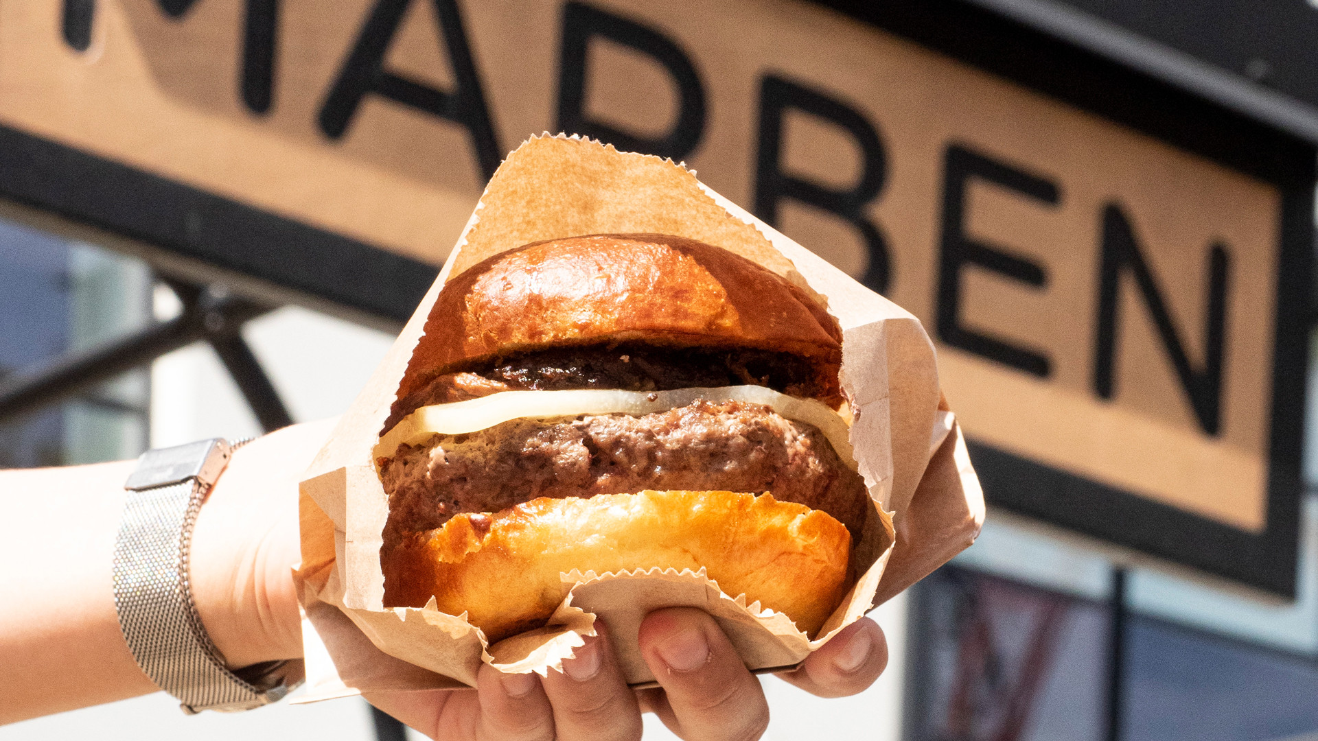 The best patios in Toronto | A juicy burger at Marben on King West