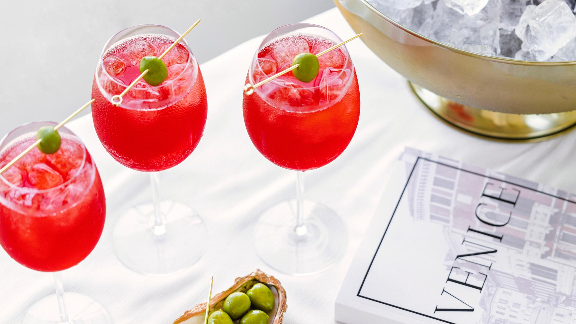 Picnic recipes   Select spritzes are garnished with olives