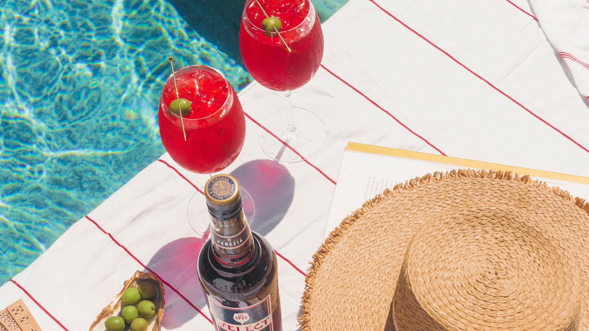 Picnic recipes   Two select spritzes by the pool