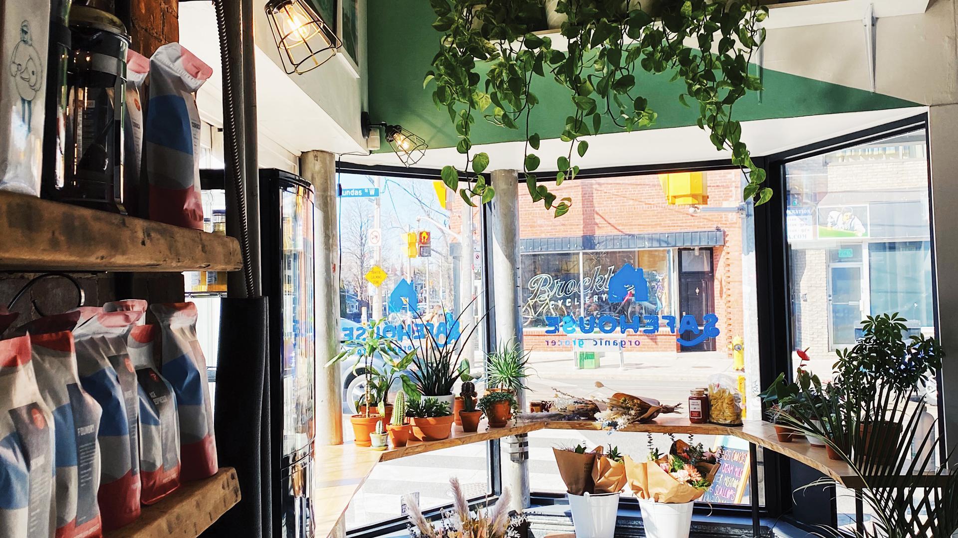 Safehouse Coffee, greengrocer, café, art shop and community hub | The interior of Safehouse Coffee