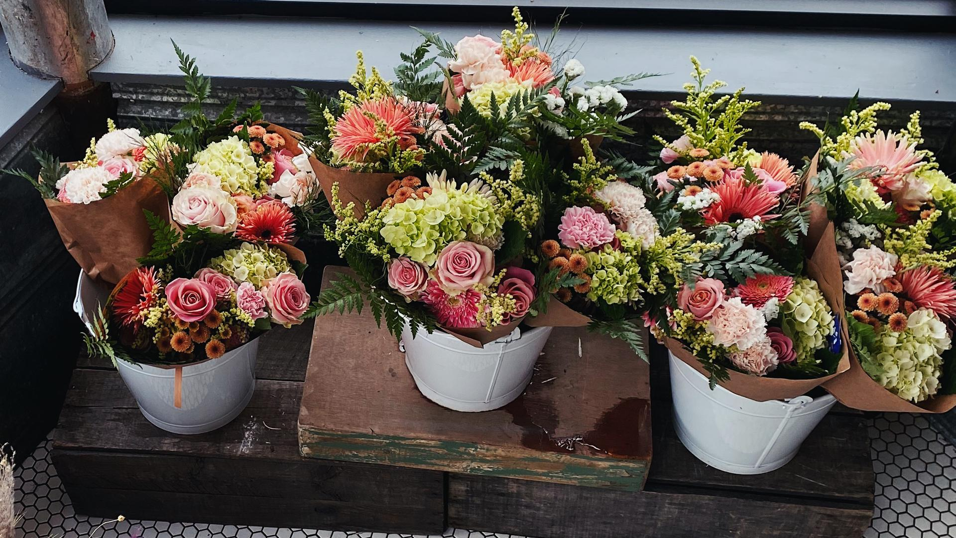 Safehouse Coffee, greengrocer, café, art shop and community hub | Flowers at Safehouse Coffee