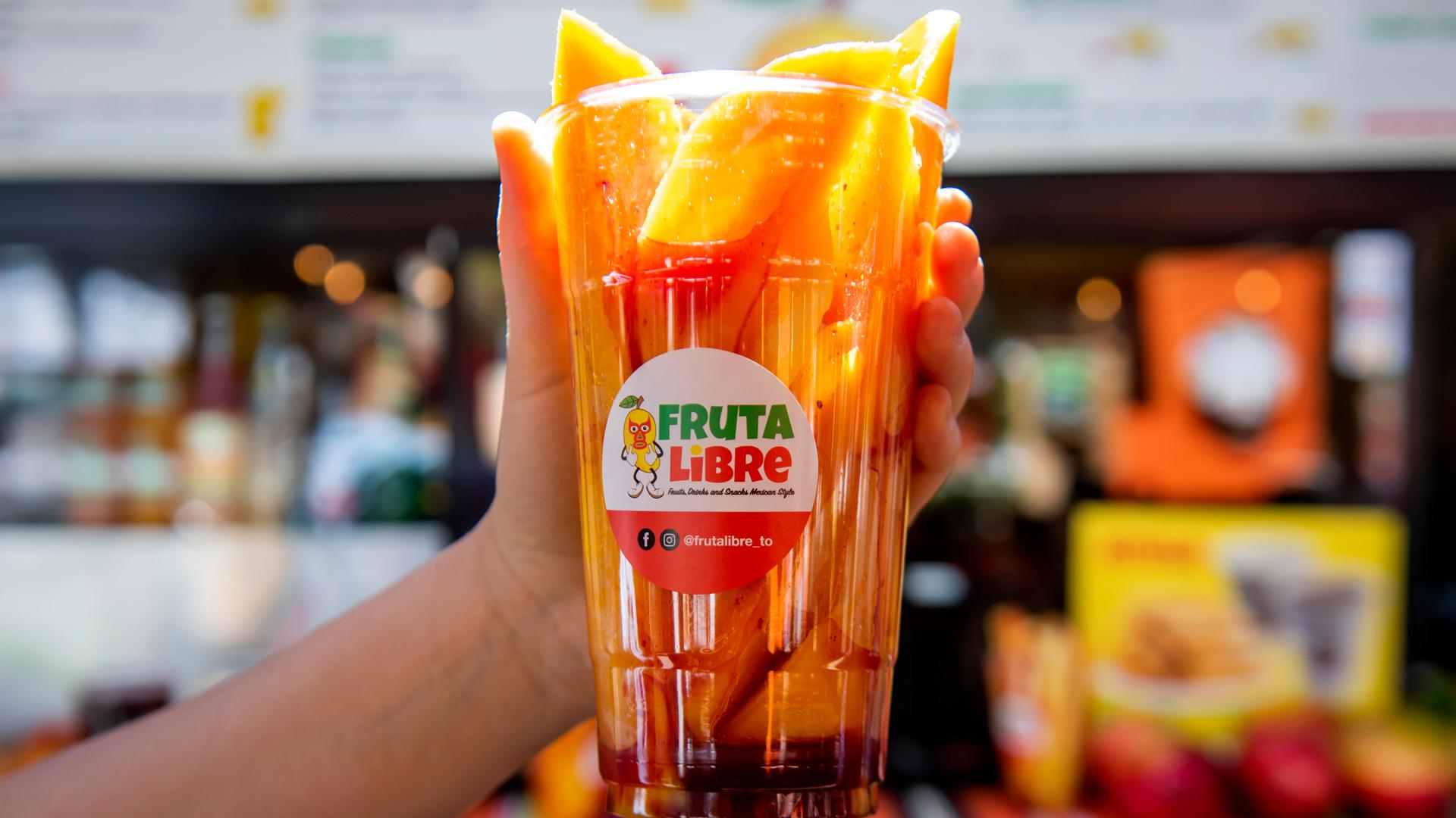 The best Toronto food markets   Sliced mango in a cup from Fruta Libre at the World Food Market