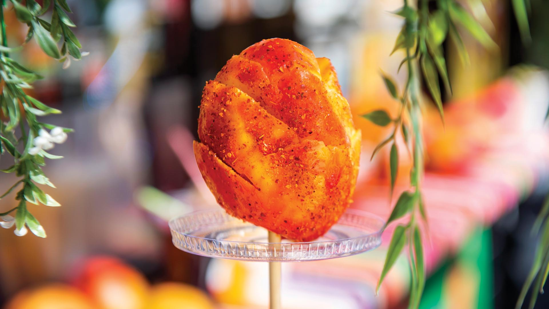 The best Toronto food markets   Mango on a stick with chamoy and tajin from Fruta Libre at the World Food Market