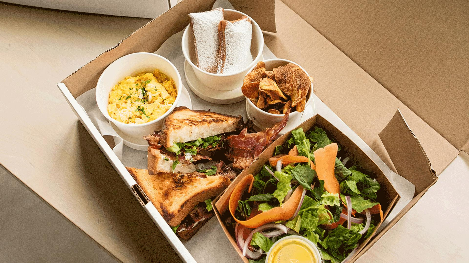 Must-try picnic baskets from Toronto restaurants   Reyna on King's picnic breakfast sandwiches and pastries