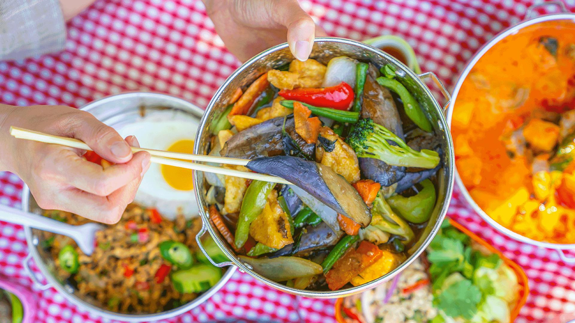 Must-try picnic baskets from Toronto restaurants   Vegetable dish from Jatujak