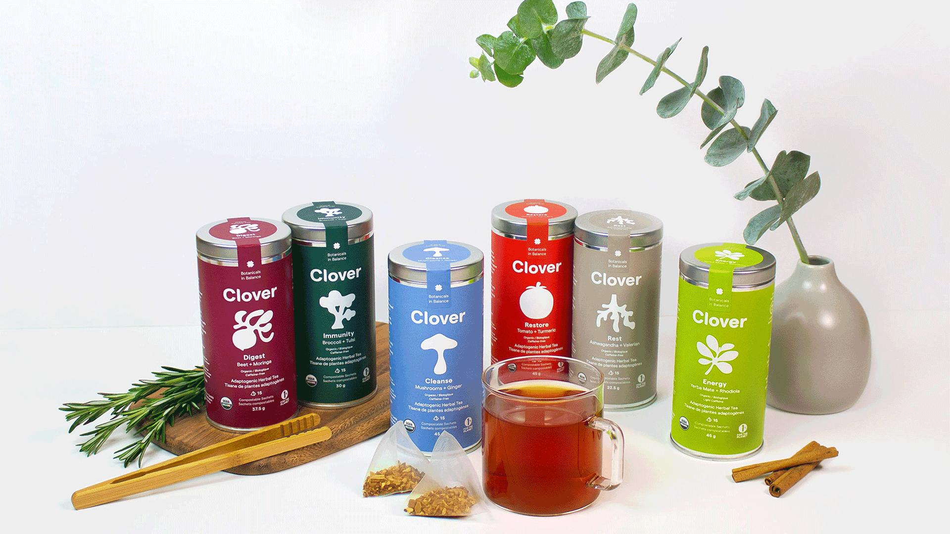 Win a super tea and healthy lifestyle prize pack | clover Botanical's inaugural adaptogen tea blends