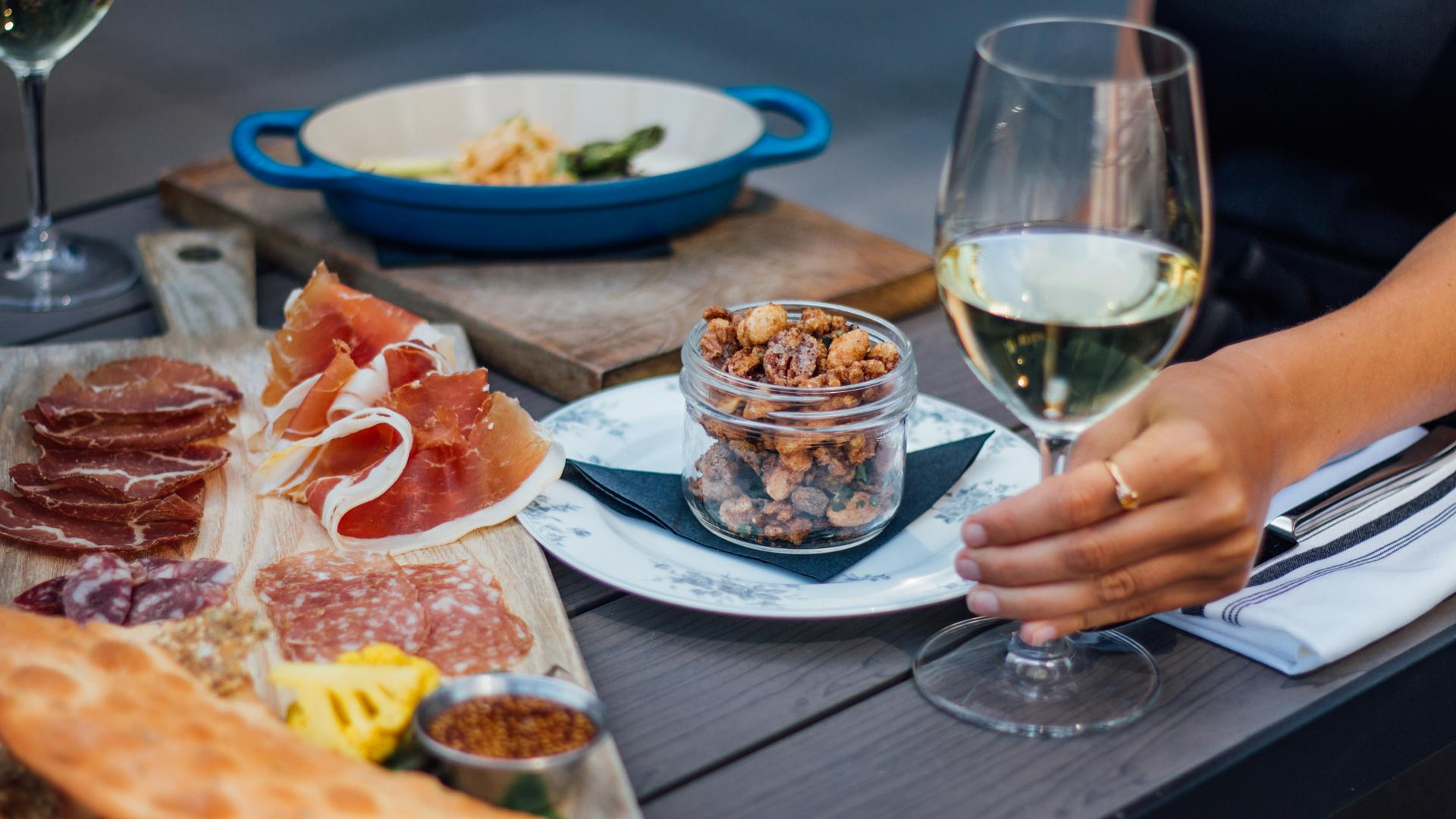 The best rooftop patios in Toronto | Charcuterie and wine at Victor Rooftop Terrace