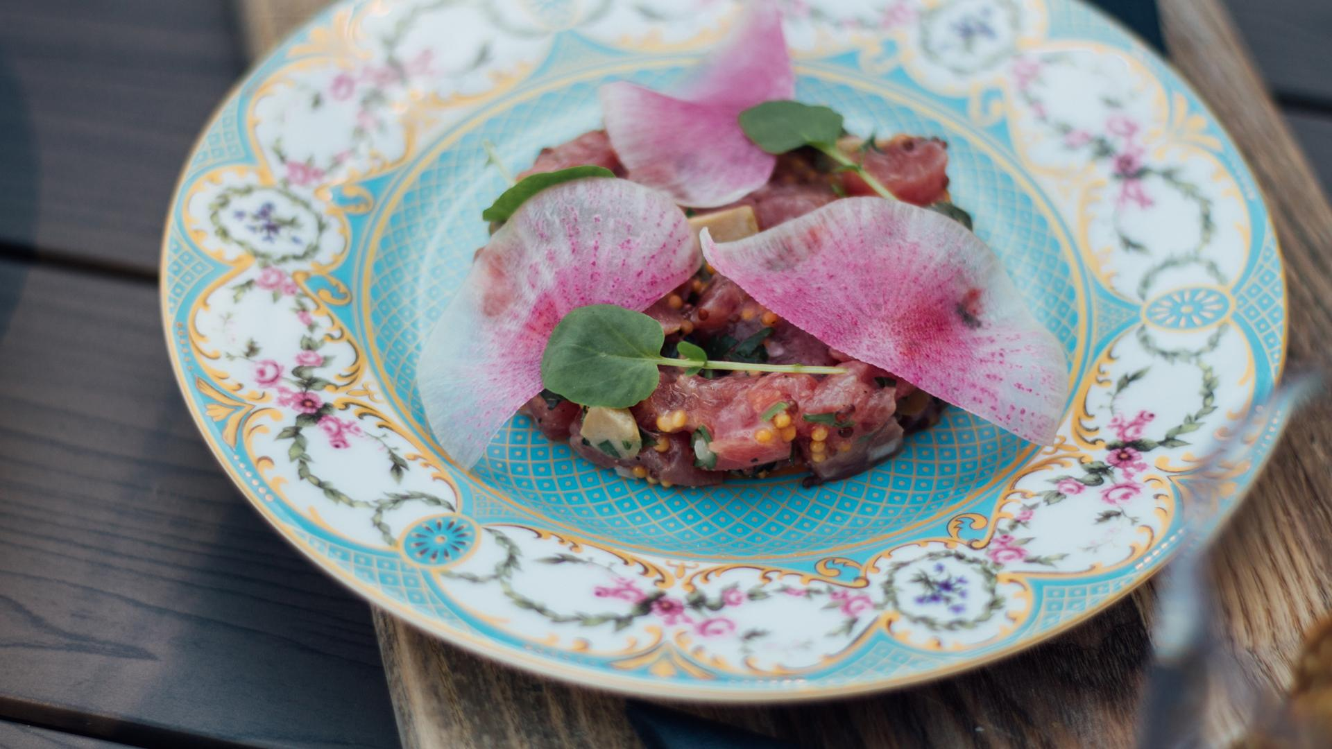 The best rooftop patios in Toronto | Yellowfin tuna tartare at Victor Rooftop Terrace