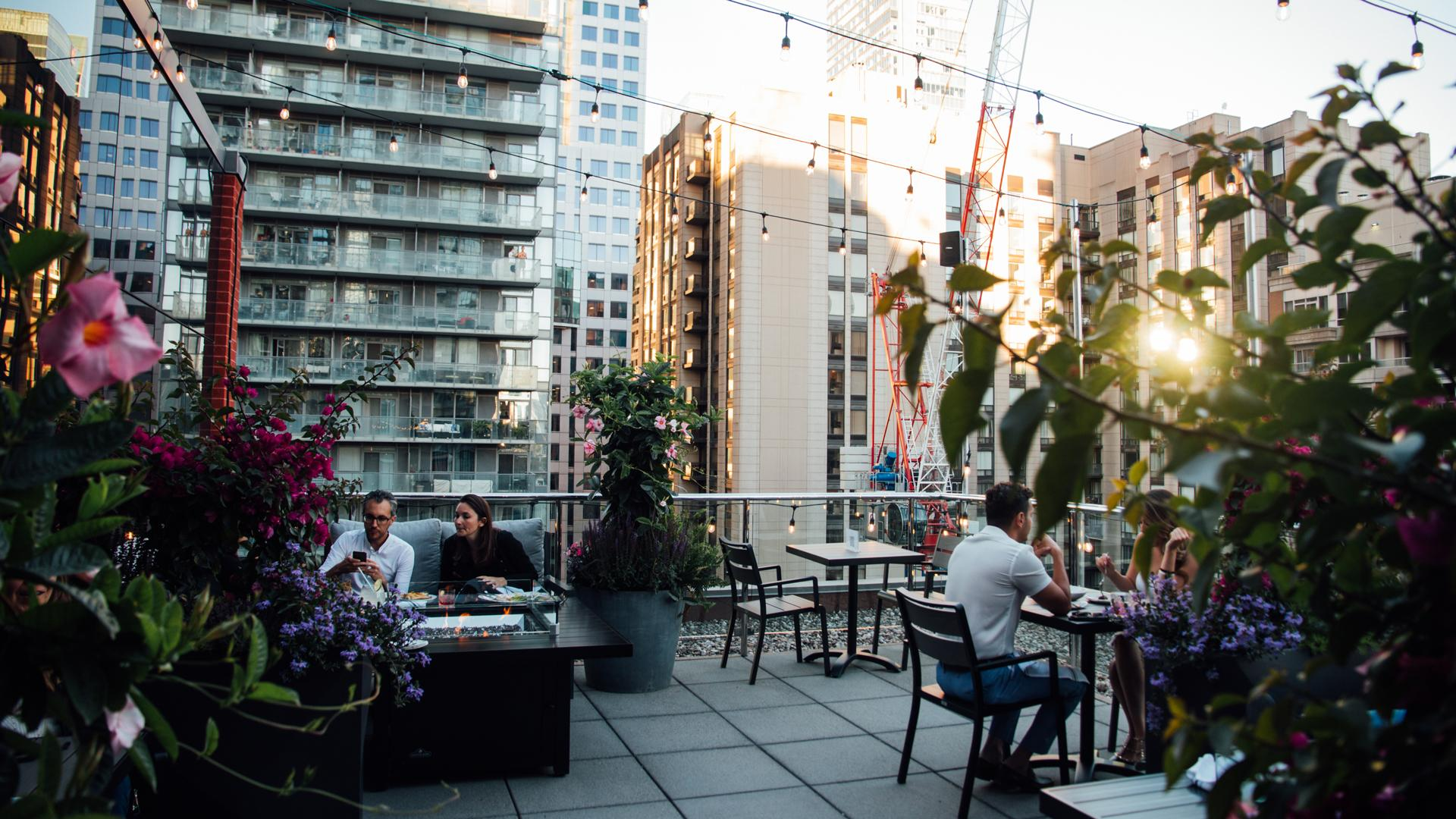 The best rooftop patios in Toronto | People dine on the patio at Victor Rooftop Terrace