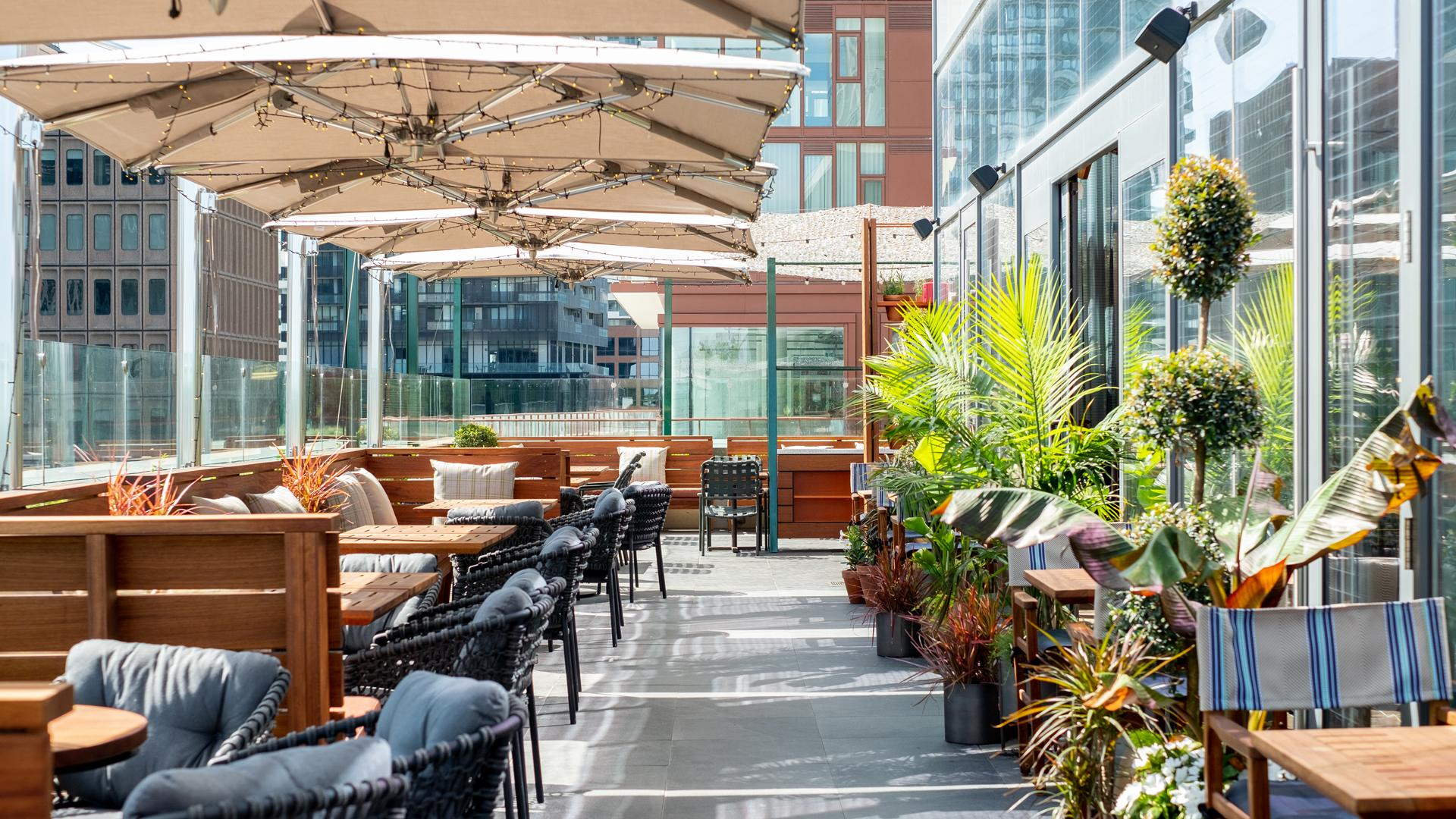 The best rooftop patios in Toronto | The rooftop garden patio at Stock Bar