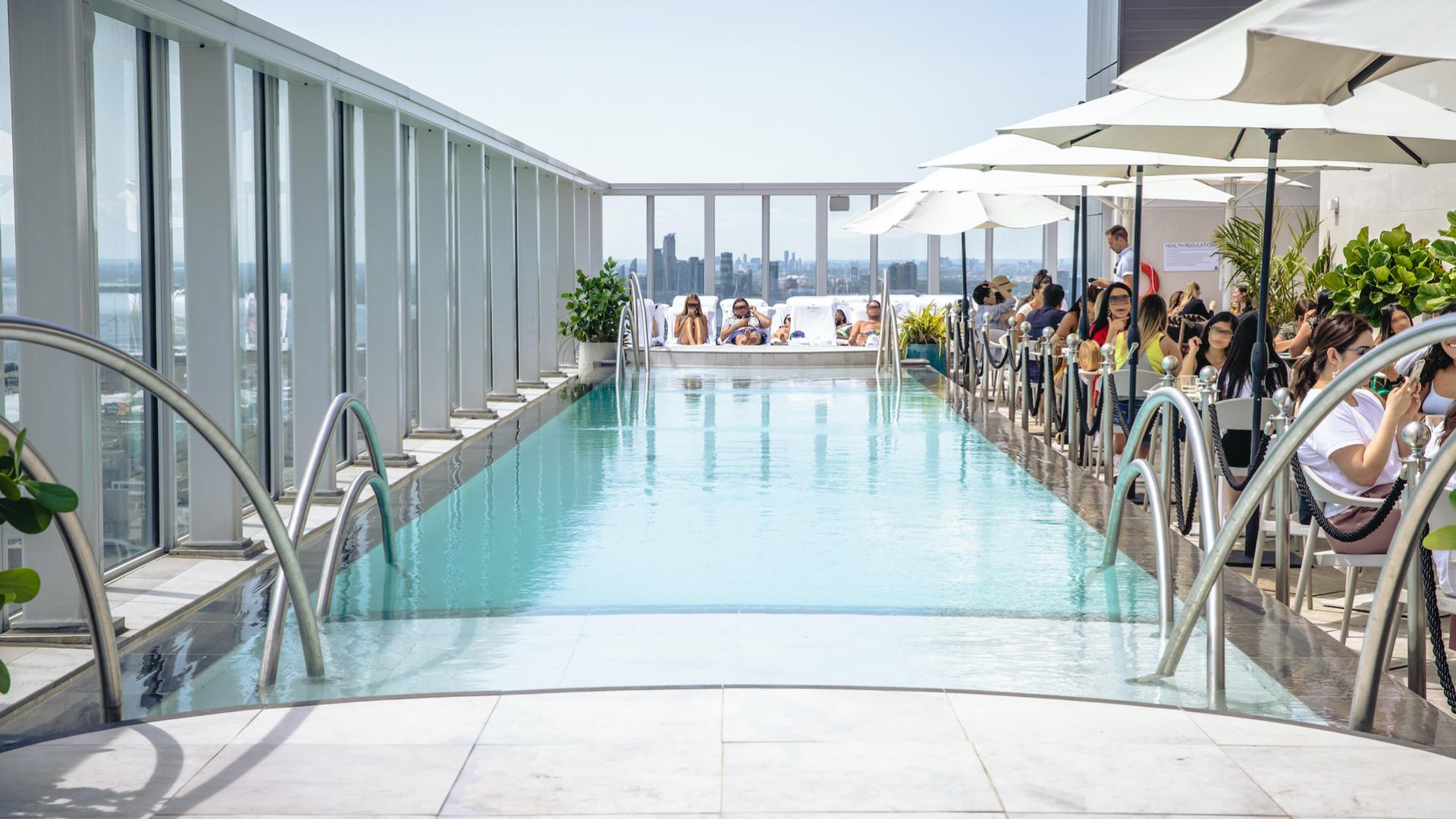 The best rooftop patios in Toronto | The sparkling infinity pool at KOST