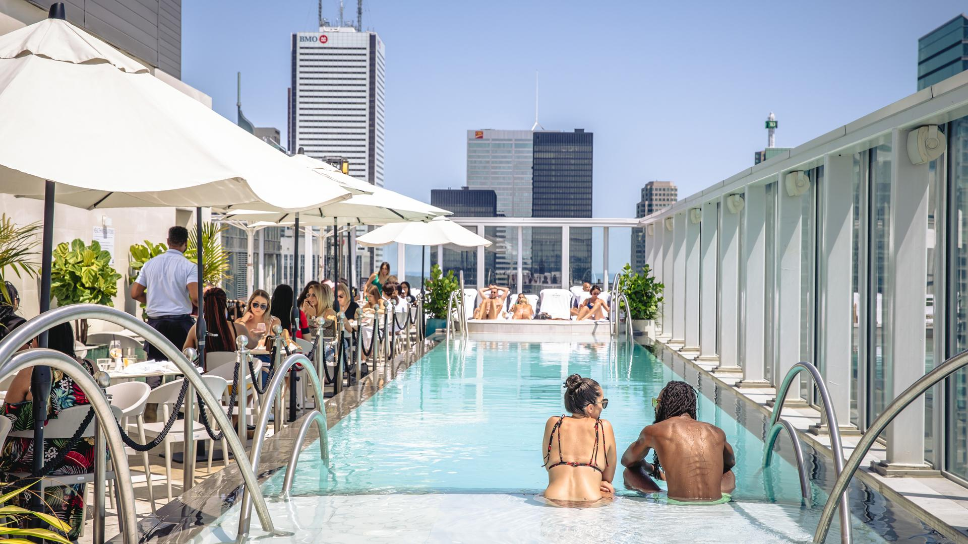 The best rooftop patios in Toronto | KOST sits atop the 44th floor of the Bisha Hotel
