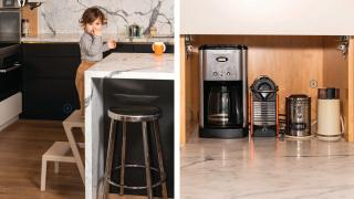In the kitchen of Cory Vitiello, Martina Sorbara and Barlow