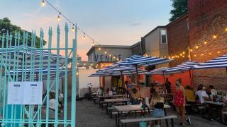 Venice Beach Bar | The transformed storage lot at Dundas West