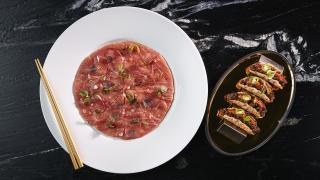 The best restaurants offering delivery and takeout in Toronto: tuna pizza at Akira Back