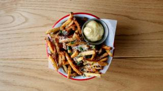 Alcohol delivery in Toronto   French fries at Bandit Brewery and restaurant in Toronto