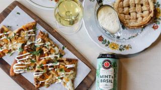Brickworks Ciderhouse Toronto craft cider   Seasonal Mint and Basil cider paired with food