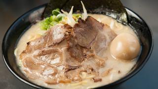 The best ramen in Toronto | A steaming bowl of pork ramen at Kinton