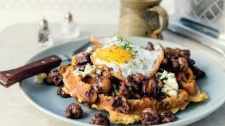 Chef Matt Basile's creamy mushrooms on toast recipe