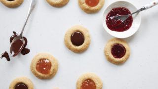 Fresh City's spelt and coconut sugar thumbprint cookies recipe