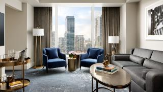 The best Toronto hotels for a staycation | Suite with downtown view at the Ritz-Carlton