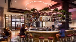 The best Toronto hotels for a staycation | Lobby bar at The Broadview Hotel