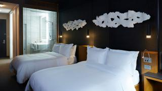 The best Toronto hotels for a staycation | Two bed suite at Le Germain Hotel Toronto Mercer