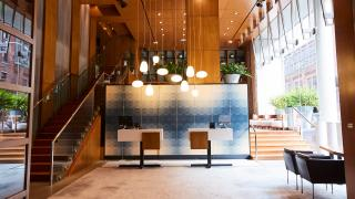 The best Toronto hotels for a staycation | Lobby at Le Germain Hotel Toronto Mercer