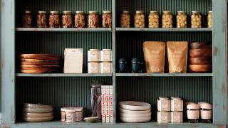 Restaurant review: Shook | Shelves are lined with beautiful handmade bowls, pitchers and tableware from Mima Ceramics at Shook