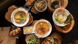 The best ramen in Toronto | A spread of dishes from Midori Ramen